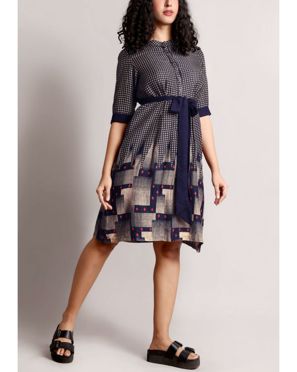 Waist tie up shirt dress 2