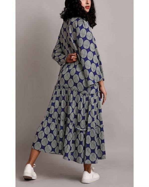 Blue twin tier dress 3