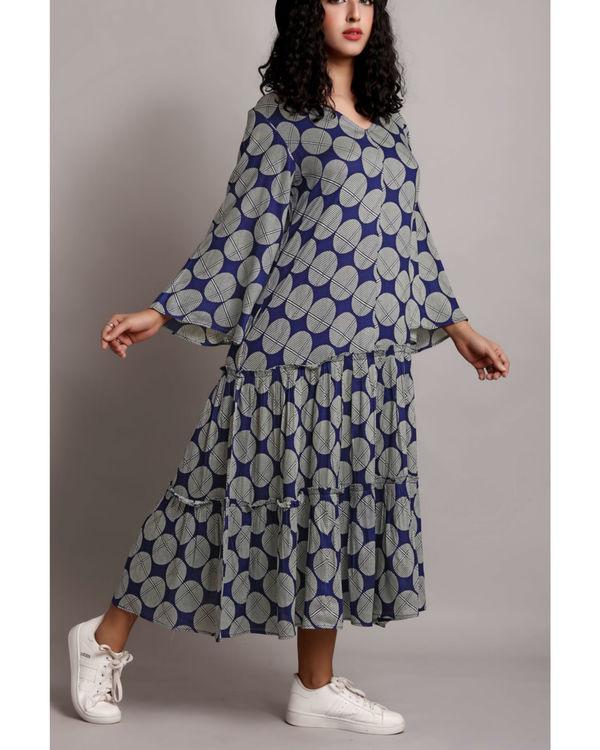 Blue twin tier dress 2