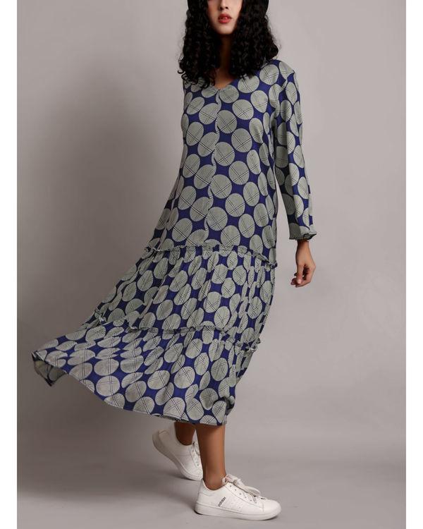 Blue twin tier dress 1