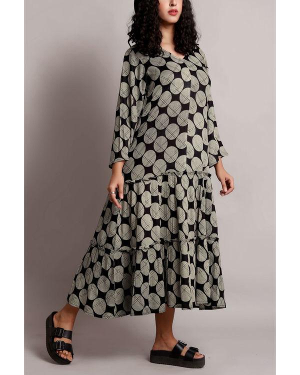 Black twin tier dress 2