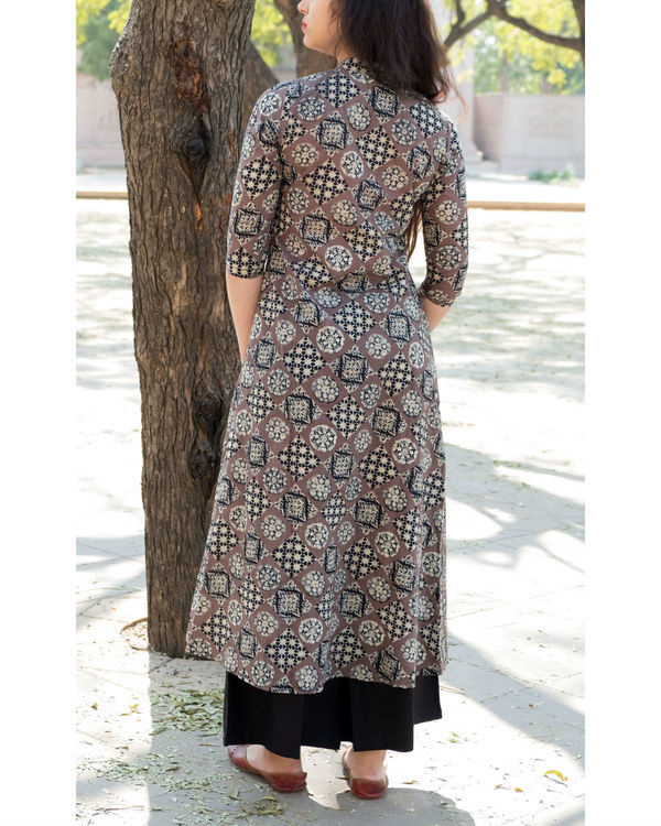 Double layered checker print dress 2
