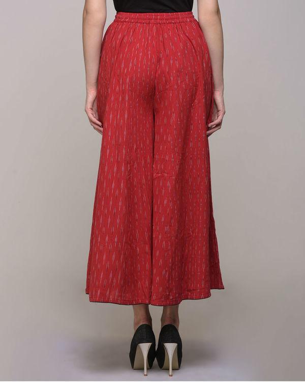 Red ikat  cotton palazzo pant 1
