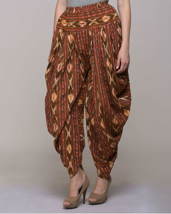 Ikat cotton patiyala pant 2