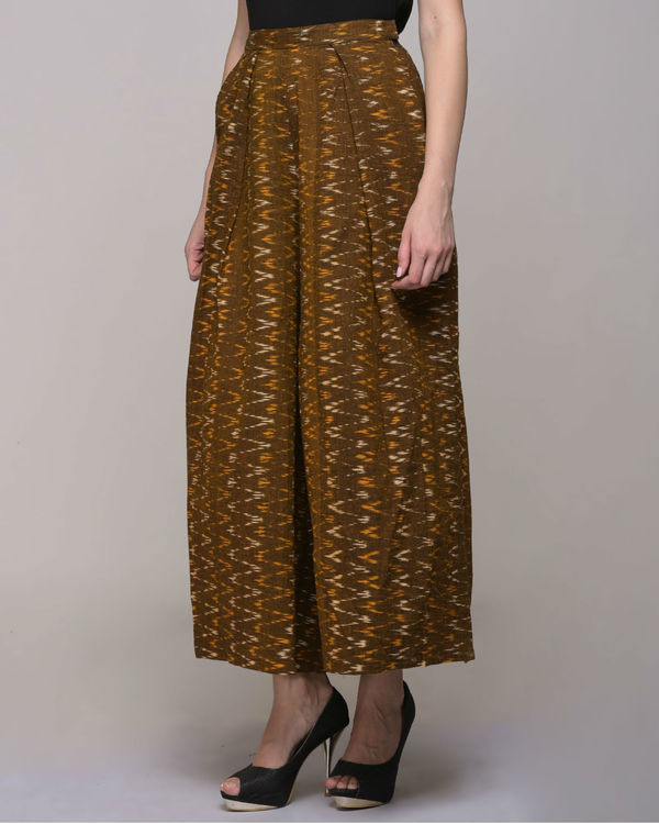 Chevron cotton ikat pleated pant 2