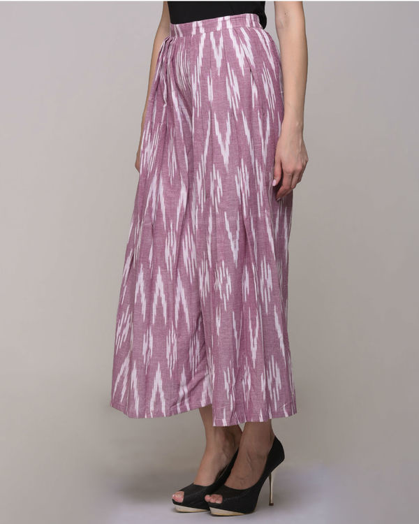 Pink ikat pleated cotton pant 2