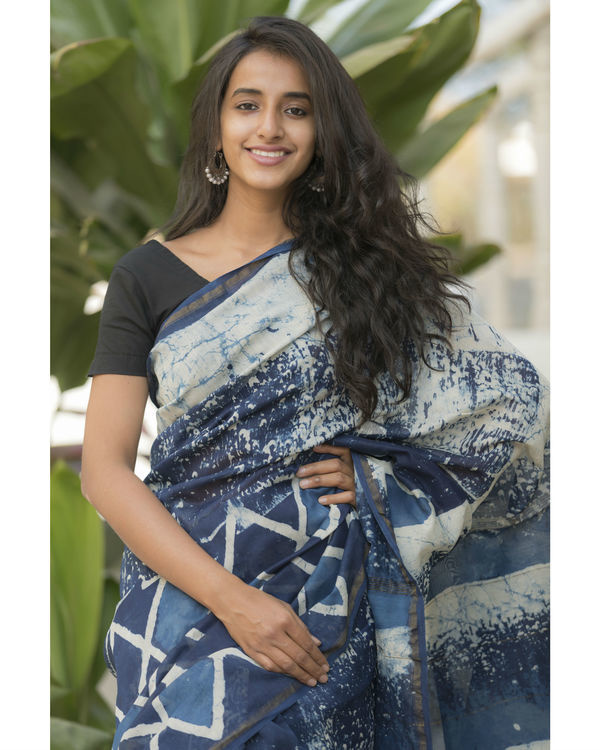 Indigo diamond sari 3