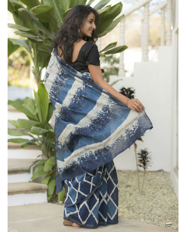 Indigo diamond sari 2