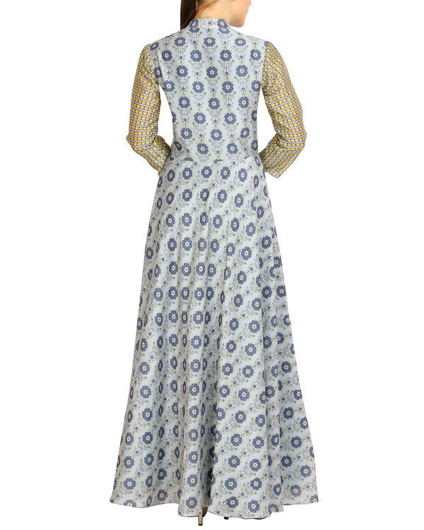Flared grey printed maxi 1