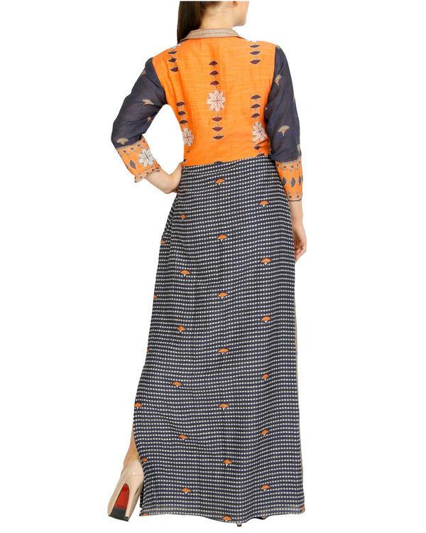 Charcoal flap dress with tassels 3