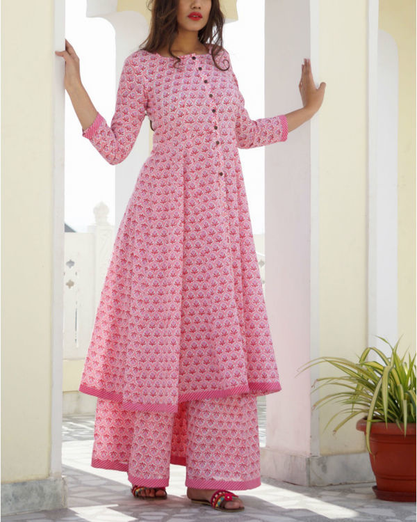 Pink kalidar sharara set 3