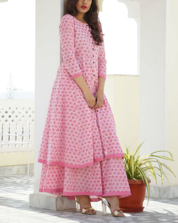 Pink kalidar sharara set 2