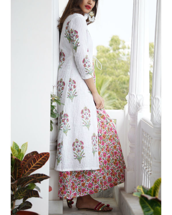 Pink floral maxi and jacket set 3