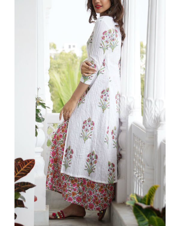 Pink floral maxi and jacket set 2