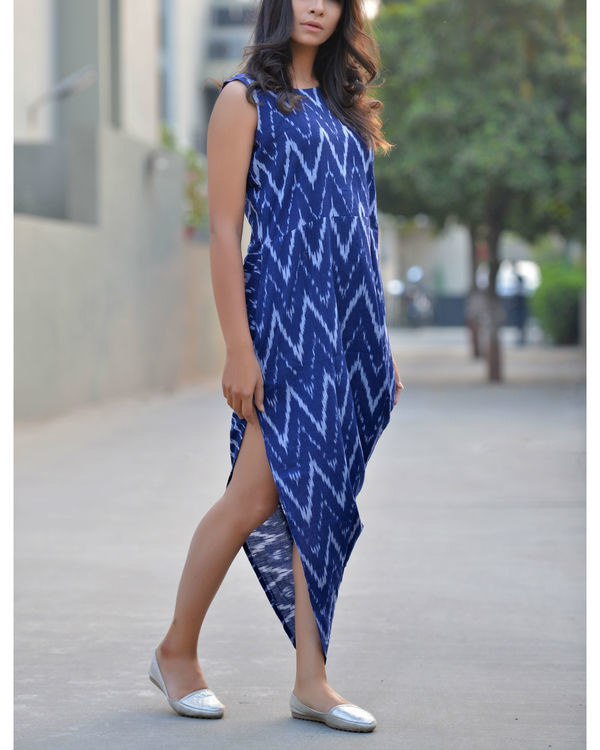 Prismatic ikat v-dress 2