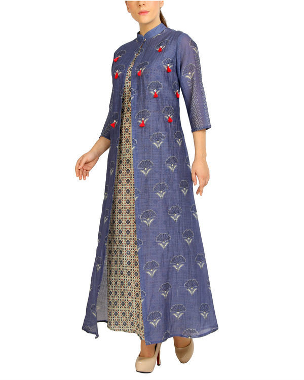 Purple tasseled mogra maxi 2
