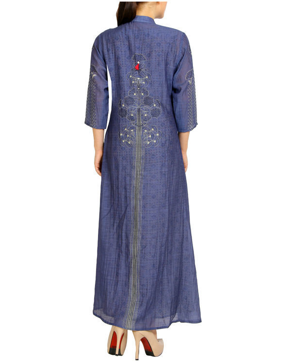 Purple tasseled mogra maxi 1
