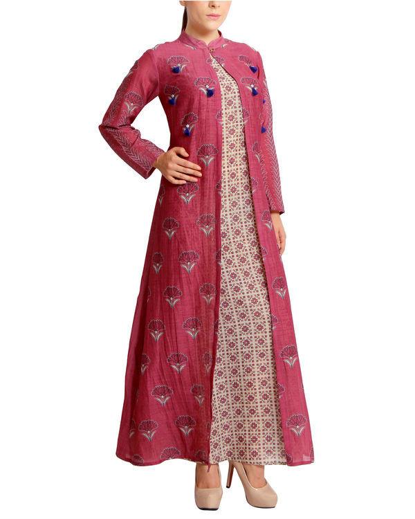 Maroon pink tasseled maxi 2