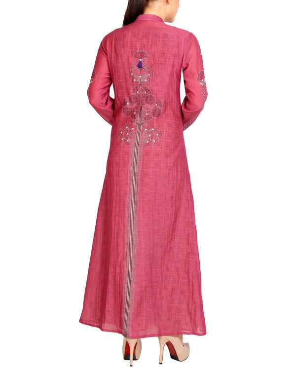 Maroon pink tasseled maxi 1