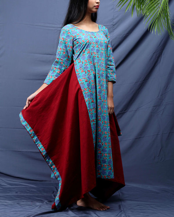 Chowkdi block printed dress 3