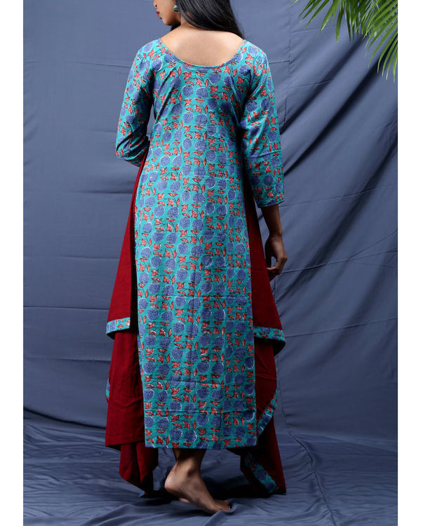 Chowkdi block printed dress 2