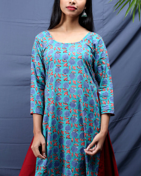 Chowkdi block printed dress 1