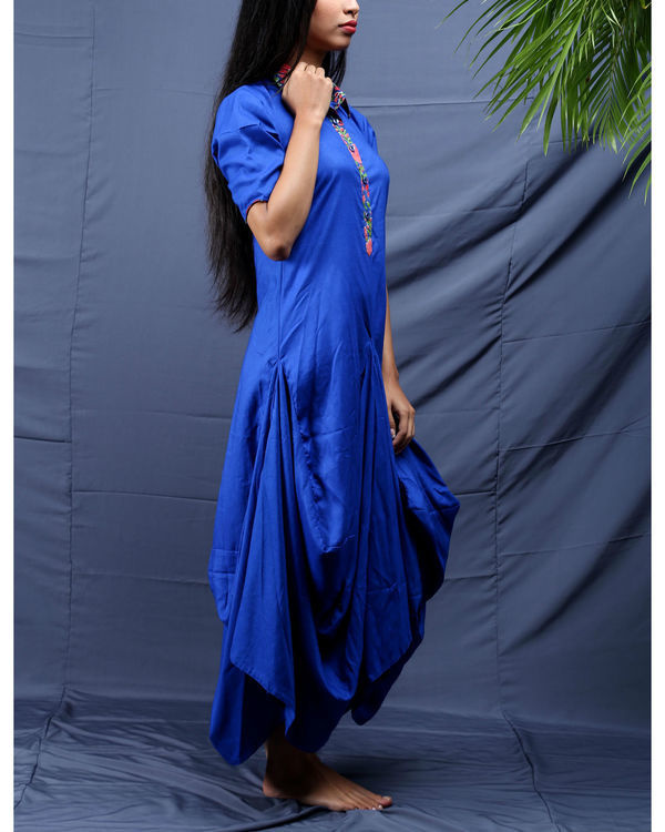 Blue jhabla dress 3
