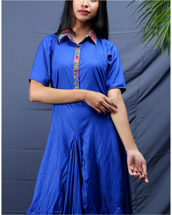 Blue jhabla dress 1