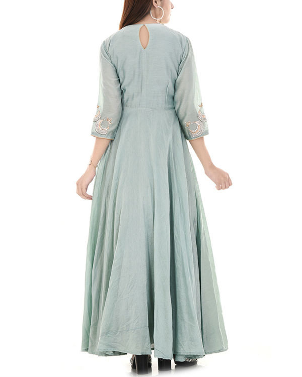 Pista green anarkali dress 1