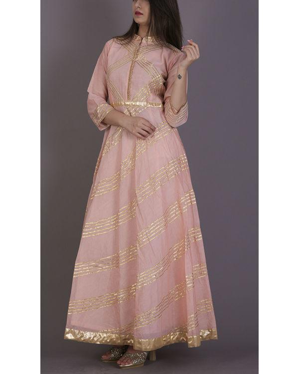 Peach gota dress 3