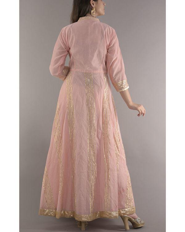 Peach gota dress 2