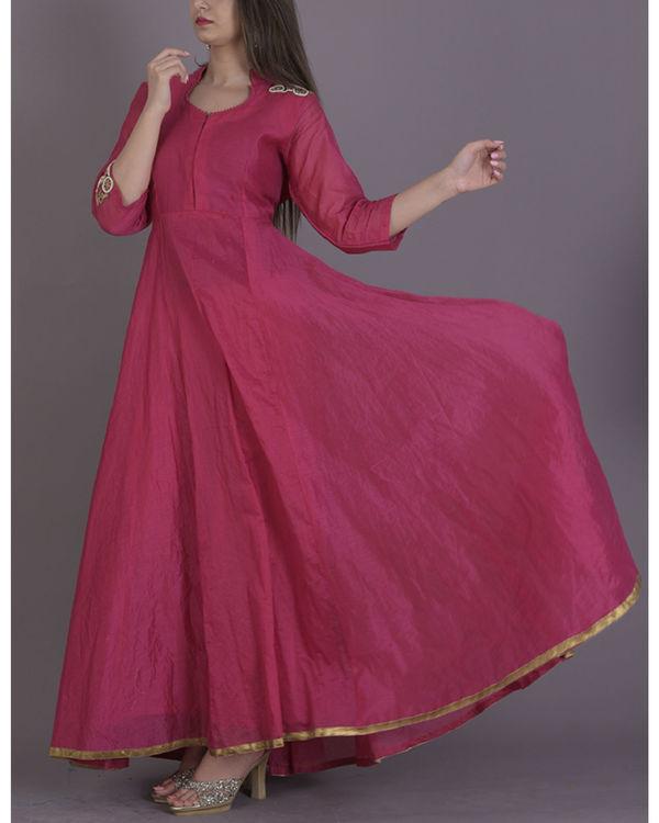 Pink anarkali dress 3