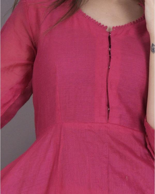 Pink anarkali dress 2