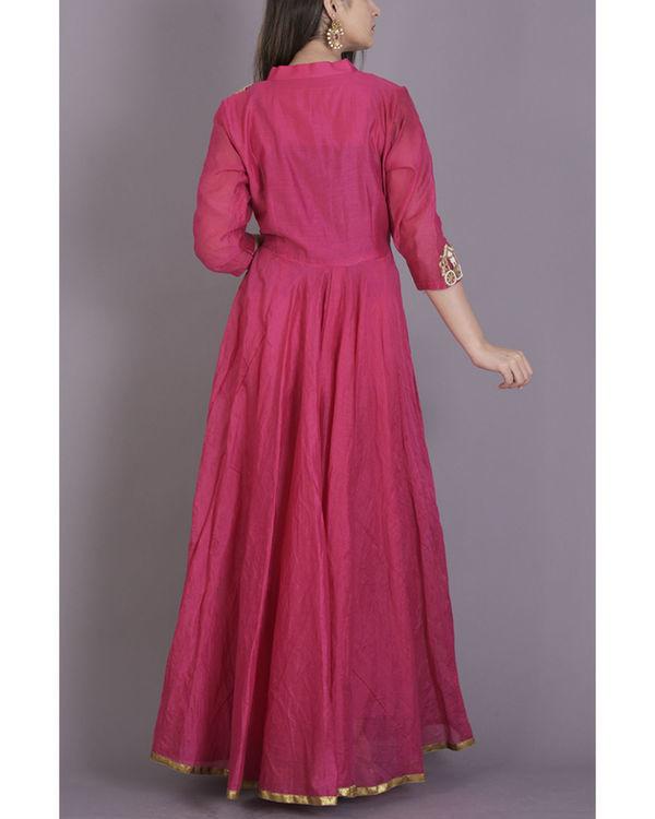 Pink anarkali dress 1