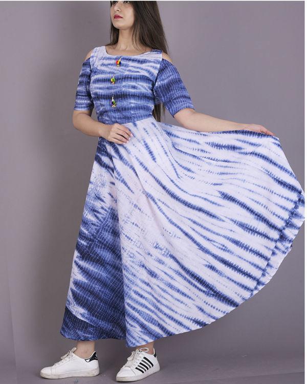 Blue tie and dye dress 3
