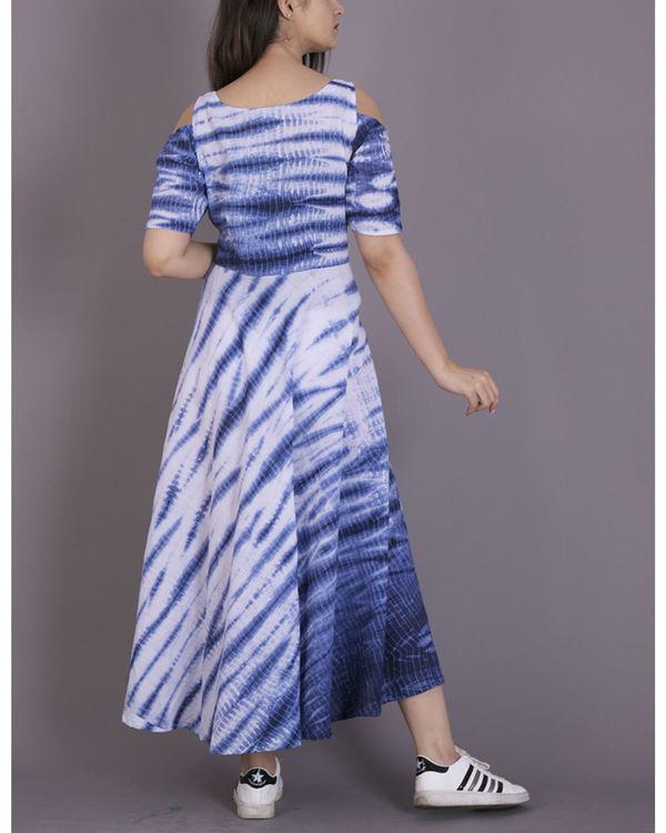 Blue tie and dye dress 2