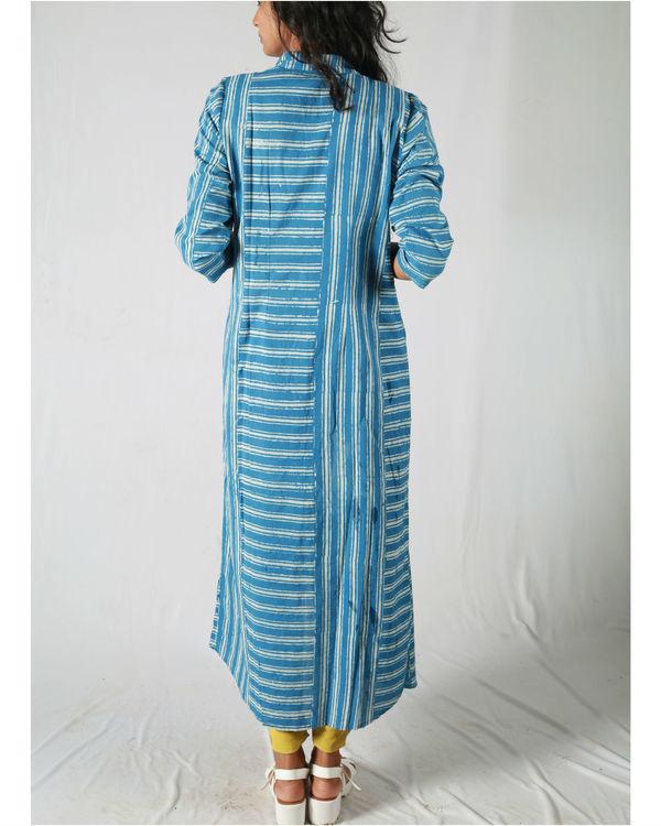 Blue asymmetric striped kurta 2