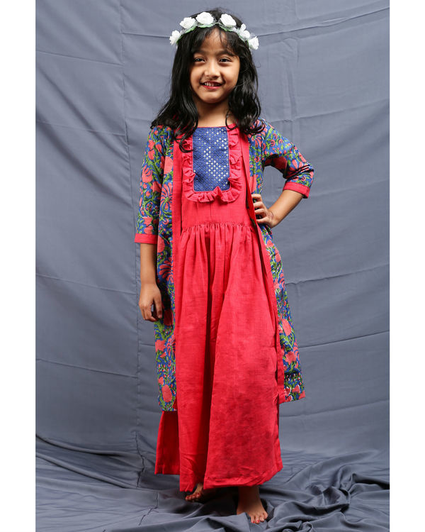 Cherry choga gathered dress 2