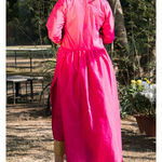 Thumb_bright_pink_kurta_cape_and_pants_-set_of_two_4