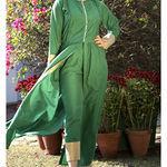 Thumb_leaf_green_kurta_cape_and_pants_-set_of_two_5
