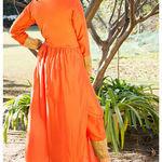 Thumb orange kurta cape and pants  set of two 3