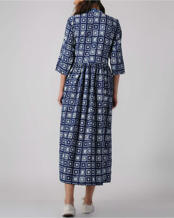 Indigo patch dress 2
