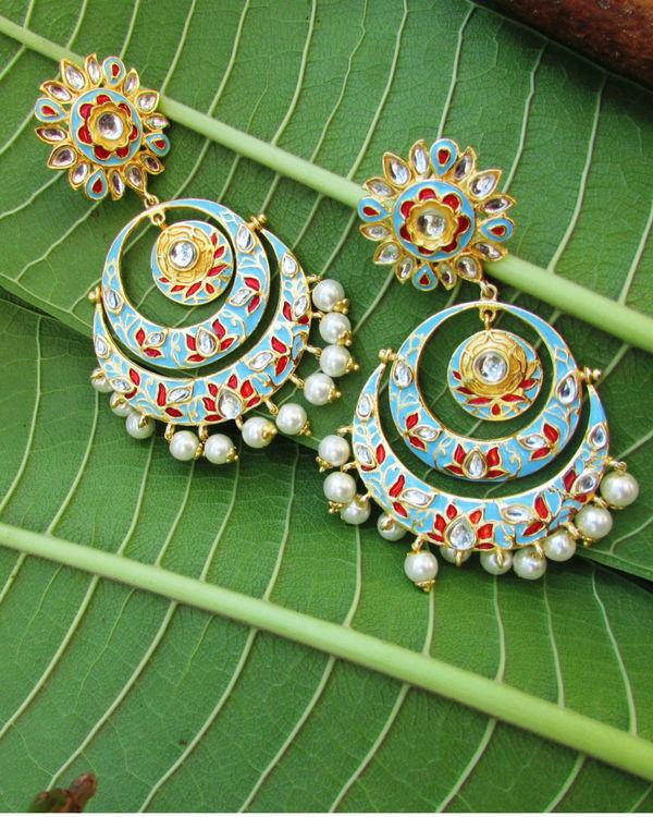 Blue Lotus Earring 1