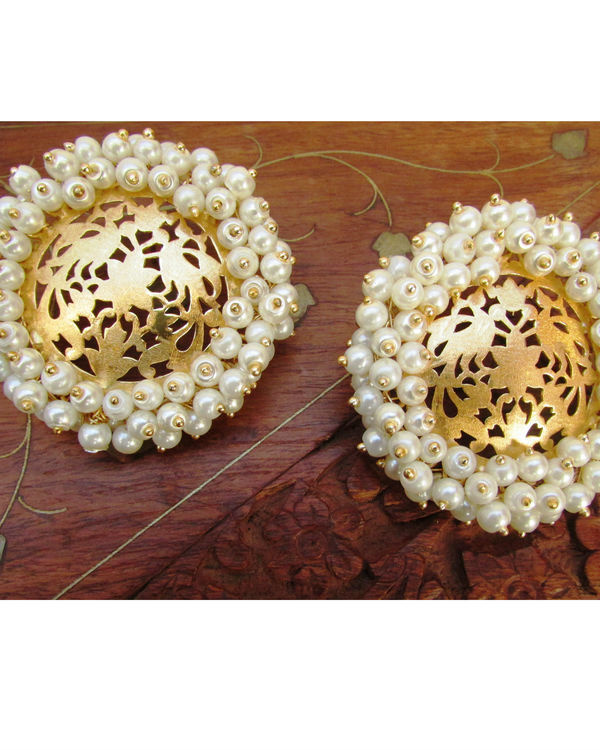 Gold with Pearls Earring 1