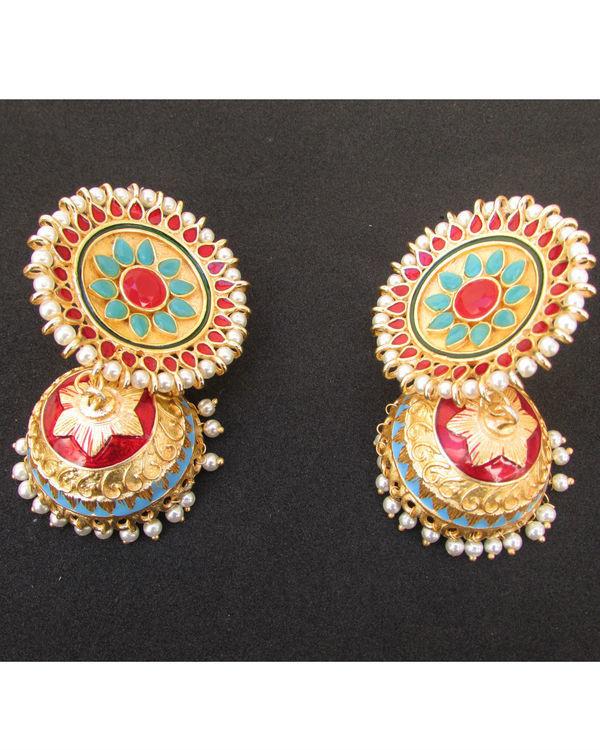 Multicolour Pearl Jhumki 1