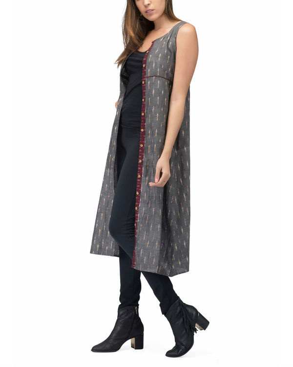 Grey ikat jacket dress 2