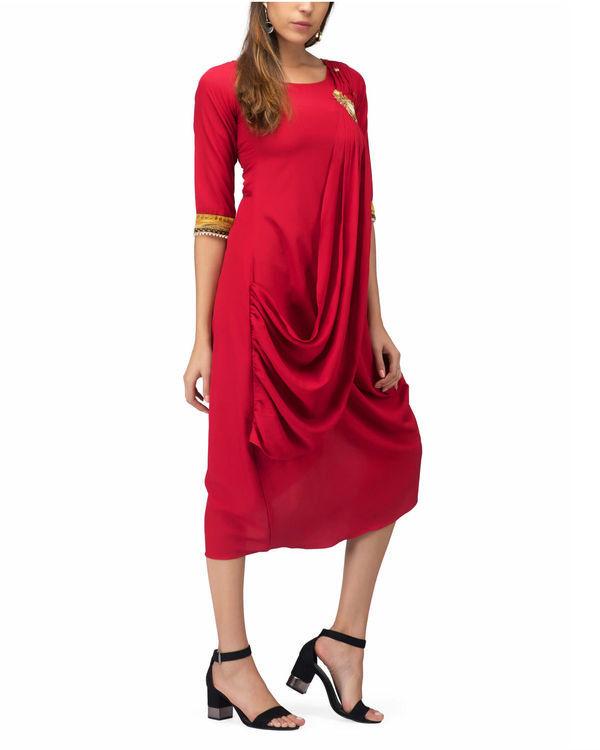 Red Drape Tunic 3