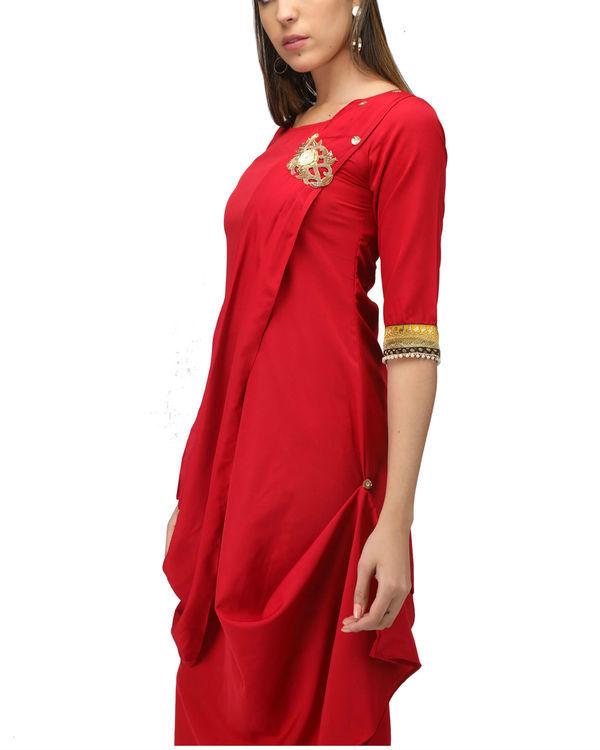 Red Drape Tunic 2