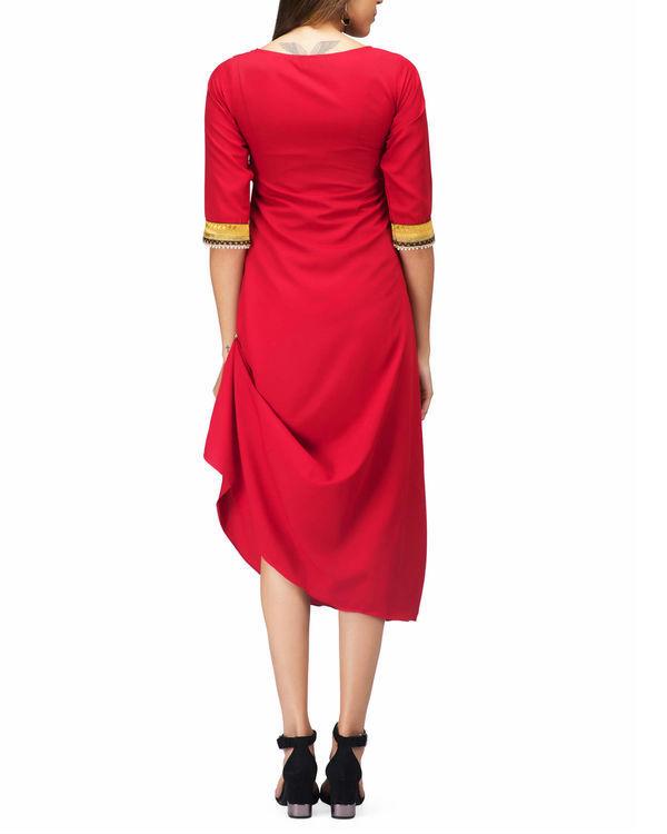 Red Drape Tunic 1