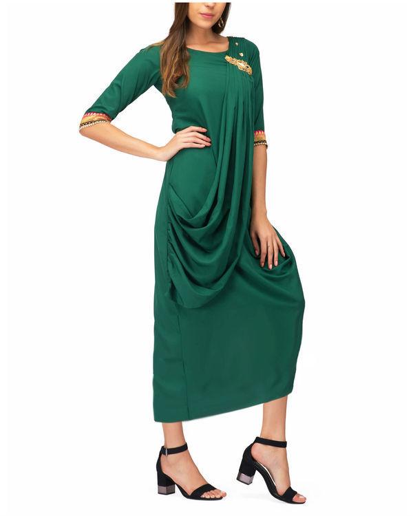 Green drape tunic 3